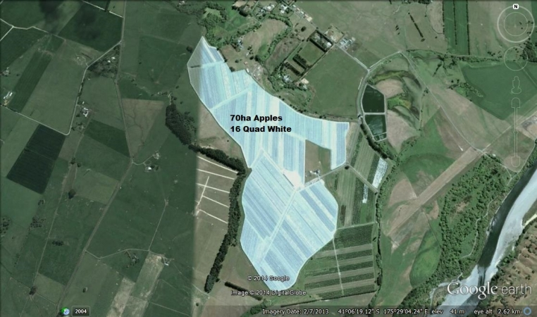 Over 70ha of Apples protected by NZ Canopies